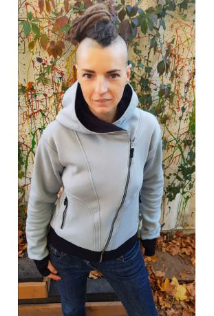 SLOGAN The Bassman Grey Bio-Baumwolle Zip off damen sweatshirt