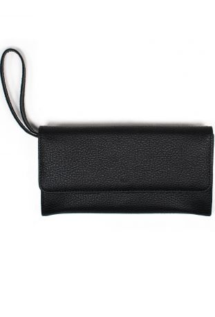 Will's Wegański Continental Wallet Damski Black