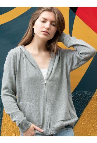 Will's Loungewear Knit Hoodie Wegańska Bluza Dresowa Damska Grey