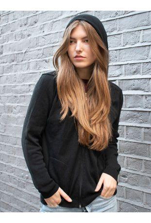 Will's Loungewear Knit Hoodie Wegańska Bluza Dresowa Damska Black