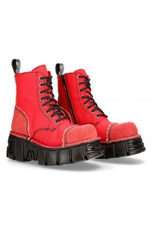 New Rock Custom Metallic M-MILI083C-RC6 vegan rock boots
