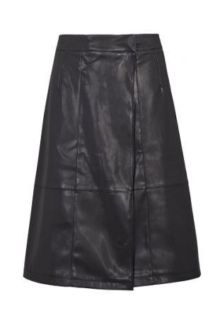 Will's Vegan Leather Skirt Wegańska Spódnica Damska Black