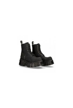 New Rock Metallic M-MILI083C-RC7 vegan rock boots