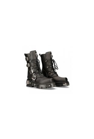 New Rock Boot Metallic M-373-S7 vegan rock boots
