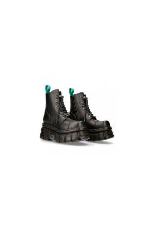 New Rock Ancle Boot Metallic M-NEWMILI083-VS2 vegan rock boots