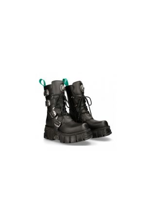 New Rock Boot Metallic M-373T-V82 vegan rock boots