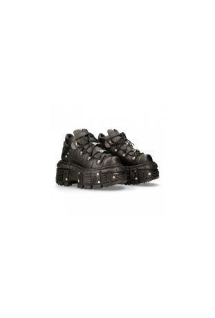 New Rock Ancle Boot Metallic M-TANK106N-V2 vegan rock boots