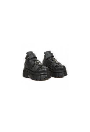 New Rock Ancle Boot Metallic M-285-V3 vegan rock boots