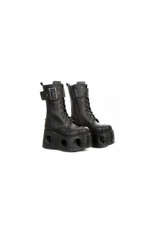 New Rock Boot Metallic M-312-V1 vegan rock boots