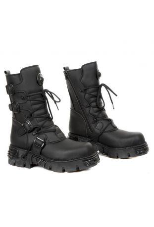New Rock Boot Metallic M-373-V6 vegan rock boots