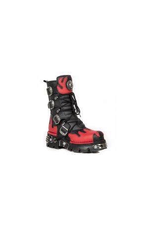 New Rock Boot Metallic M-373-VC2 vegan rock boots