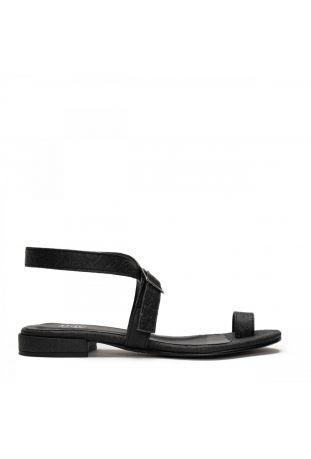 Nae Kio - Black Ring Flat Sandal wegańskie sandały damskie