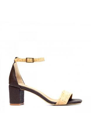 Nae Margot - Pinatex Brown wegańskie sandały damskie