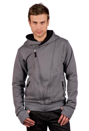 The Bassman Bio-Baumwolle Zip off Herren-sweatshirt