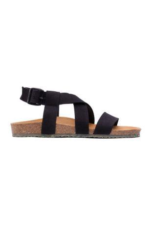 Zouri Sand Black wegańskie sandały