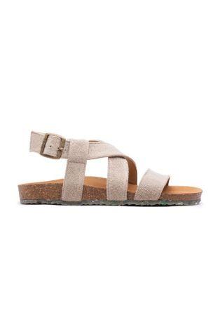 Zouri Sand Linen wegańskie sandały
