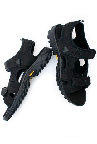 Will's WVSport Active Sandals Black Vegan Suede