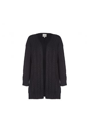 Will's Recycled Chunky Knit Cardigan Black