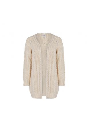 Will's Recycled Chunky Knit Cardigan Beige