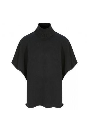 Will's Recycled Knit Poncho Black Wegański Sweter Damski