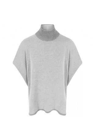 Will's Recycled Knit Poncho Grey Wegański Sweter Damski
