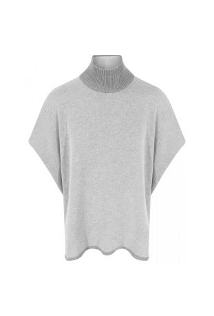 Will's Recycled Knit Poncho Grey