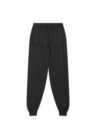 Will's Recycled Loungewear Knit Bottoms Black Wegańskie Spodnie Damskie