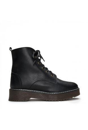 Nae Dylan Vegane Boots Mit Schnürung Schwarz