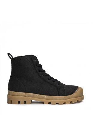 Nae Noah Vegane Recyclete Hochwertige Pet-Sneaker Boots Schwarz