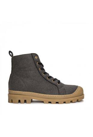Nae Noah Vegane Recyclete Hochwertige Pet-Sneaker Boots Grau