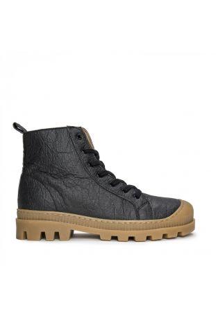 Nae Noah Piñatex Vegane Hochwertige Schwarz Sneaker Boots