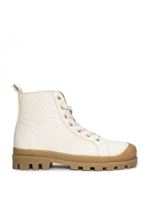 Nae Noah Piñatex Vegane Hochwertige Creme Sneaker Boots