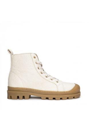 Nae Noah White Wegańskie Sneakersy z Piñatexu