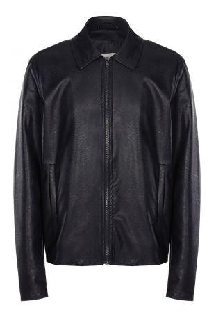 Will's Shirt Collar Jacket Black Vegan Leather