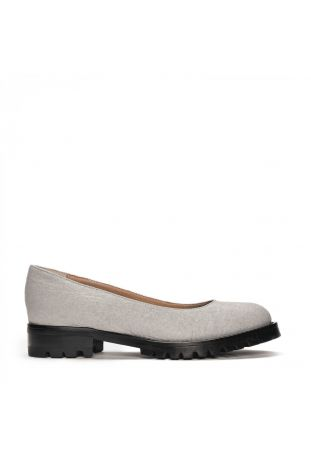 Nae Lili Piñatex Grey Women's Ballerina Vegan Shoes