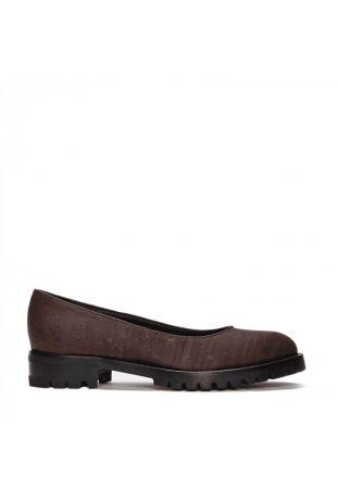 Nae Lili Cork Brown Women's Ballerina Vegan Shoes