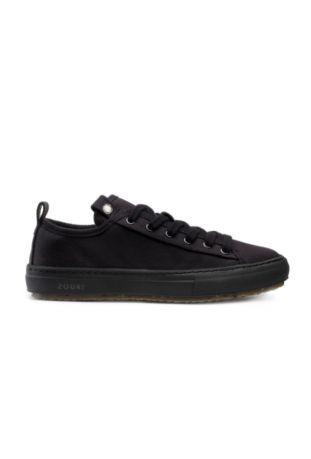 Zouri Bloom Black sneakersy wegańskie. Bawełna organiczna.