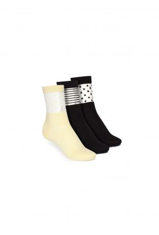 ThokkThokk 3 Pack Mid Socks Schwarz Fairtrade & GOTS Bio Baumwolle