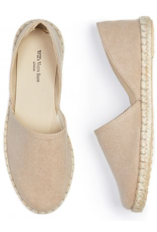 WILL'S Recycled Espadrille Sandals Dusty Pink Canvas