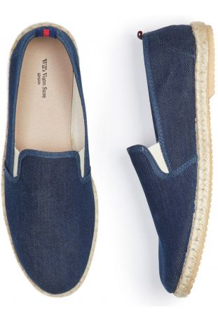 WILL'S Recycled Espadrille Loafers Denim Canvas