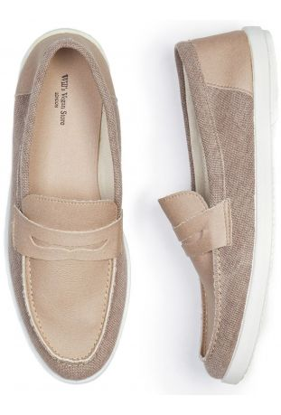 WILL'S Recycled Espadrille Loafers Beige Canvas