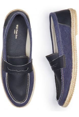 WILL'S Recycled Espadrille Loafers Dark Blue Canvas