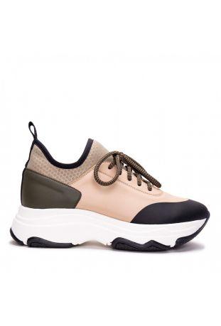 Nae Edda Maxi Sole Beige Vegan Sneakers