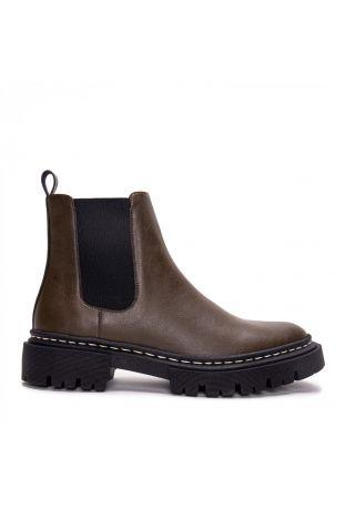 Nae Duda Micro- Vegane Knöchelhohe Chelsea Boots Braun