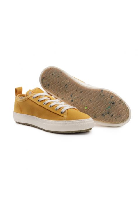 Zouri Bloom Mustard vegan sneakers