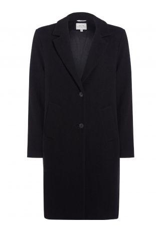 Will's Structured Vegan Wool Coat Black Wegański Płaszcz Damski