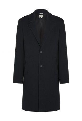 Will's Structured Vegan Wool Coat Black Wegański Płaszcz Męski