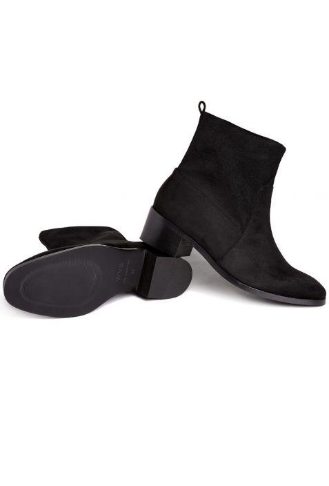 Will's Slip-On Booties Black wegańskie botki damskie