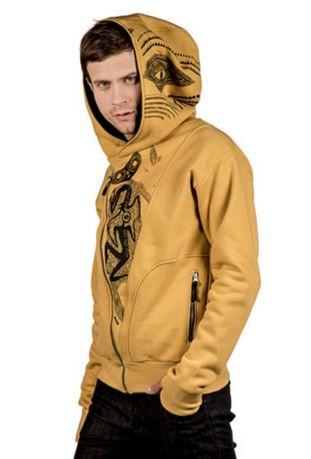 The Eye Bio-Baumwolle zip off Herren-sweatshirt