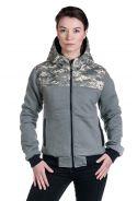 Anti dwustronna kurtka damska bawełna organiczna